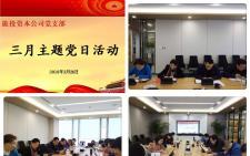旅投资本公司召开党支部3月主题党日活动